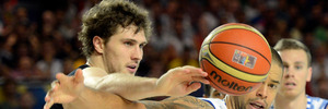Rob Loe during the 2014 FIBA World basketball championships. Photo / Getty Images