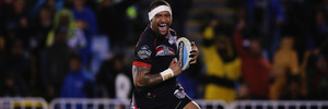 Warriors wing Manu Vatuvei is set to make his long-awaited playing return in Saturday's clash against the Broncos. Photo/Getty.