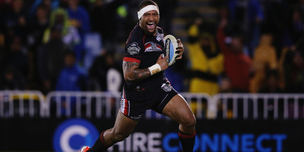 Loading Warriors wing Manu Vatuvei is set to make his long-awaited playing return in Saturday's clash against the Broncos. Photo/Getty.