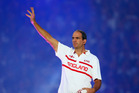 Martin Johnson acknowledges the crowd during the Rugby World Cup opening ceremony at Twickenham last year. Photo / Getty Images