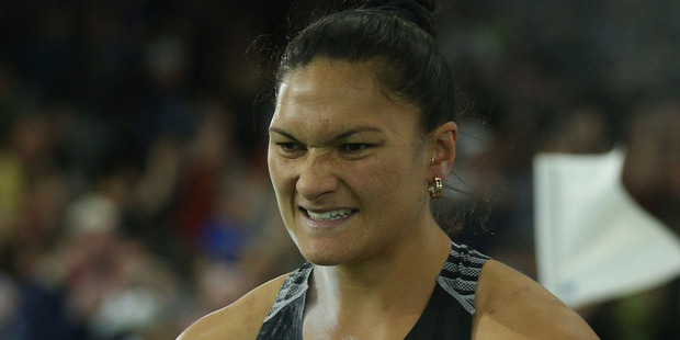 Valerie Adams competes in the Women's Shot Put Final during the IAAF World Indoors. Photo / Getty Images
