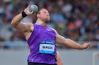 Tom Walsh competes in the Men's Shot Put during the IAAF Diamond League Shanghai. Photo / Getty Images