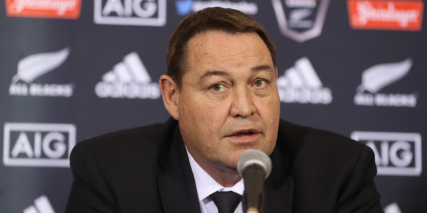Loading All Black coach Steve Hansen during the New Zealand All Blacks squad announcement at The Heritage Hotel in Auckland. Photo / Getty Images