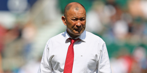 England coach Eddie Jones prior to kick off between Wales and England this morning (NZT). Photo / Getty Images