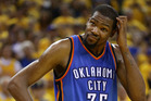 Kevin Durant stands on the court in Game Seven against Golden State. Photo / Getty Images