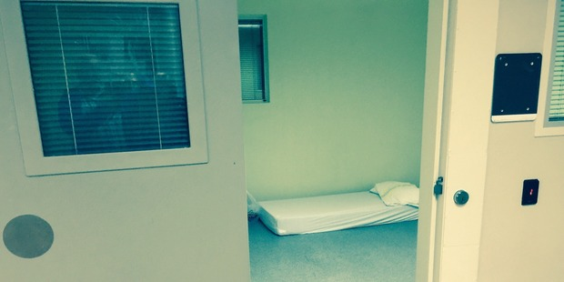 A seclusion room similar to where Ashley is kept at Tawhirimatea. Photo / Supplied