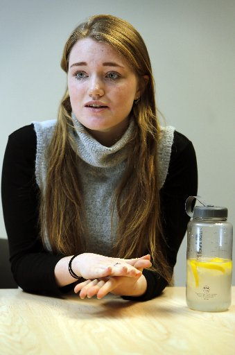 "Annalise Atherton, 17, says eating a meal was once ""terrifying"" to her. Photo / John Stone"