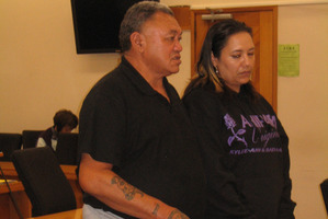 Kylee Rakich's father Joe Rakich and sister Alicia (Leash) King giving victim impact statements in the Kaikohe District Court on Saturday before the sentencing of American Thomas Springer.