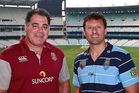 Former Maroons coach Mal Meninga and Blues coach Laurie Daley. Photo / Getty