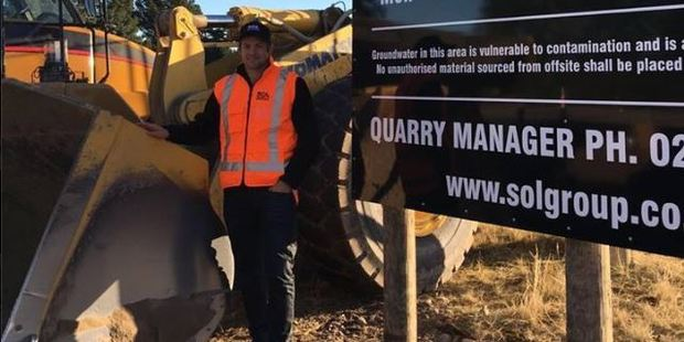Joining SOL Quarries was a chance to learn about running a business, McCaw said. Photo / Facebook