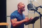 The Rock (Dwayne Johnson) performs the haka for Disney's Moana.