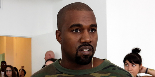 Kanye West just lost nearly $30,000 worth of equipment in one go. Photo / AP