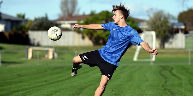 Connor Probert will soon begin a football scholarship at the University of Kentucky. Photo / George Novak