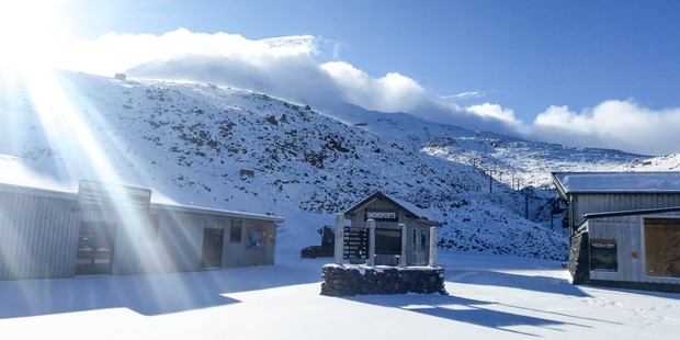 Loading Fresh snow at Whakapapa Skifield, on Mt Ruapehu. Photo / Facebook