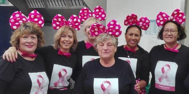 TIRELESS TEAM: Fundraisers (from left) Michelle Polkinghorne, Lynn Gillespie, Tracy Thornton (obscured), Lyn Wickham, Silene Flintoff, Sue Stevenson and Maureen Johnson. PHOTOS/ SUPPLIED