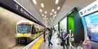 Artist impression of Karangahape station platform. Photo / AT
