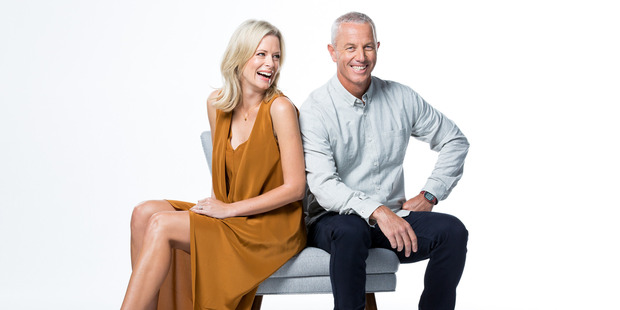 Shelley Ferguson and Mark Richardson host The Block Season 5. Photo / Supplied