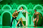 Jacob Chown (Lion), Loughlan Prior (Scarecrow,) Lucy Green (Dorothy) and Massimo Margaria (Tin Man) explore the Emerald City. Photo / Stephen A'Court.