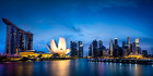 Marina Bay Singapore at dusk. Photo / 123RF