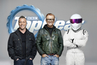 New Top Gear front guys Matt LeBlanc and Chris Evans with The Stig. (BBC)