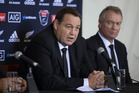 All Blacks coach Steve Hansen during the New Zealand All Blacks squad announcement. Photo / Brett Phibbs