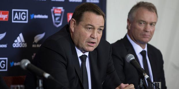 Loading All Blacks coach Steve Hansen during the New Zealand All Blacks squad announcement. Photo / Brett Phibbs