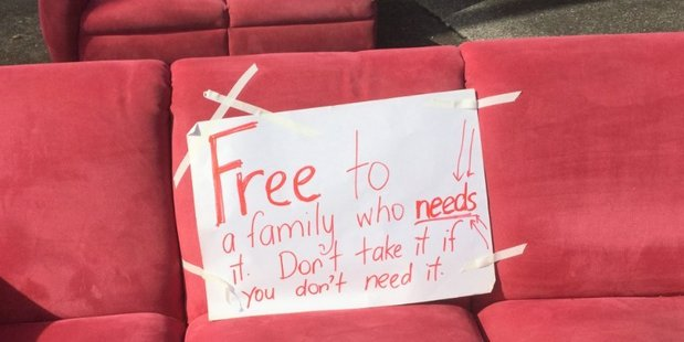 Free couch, but with conditions. Photo / Supplied