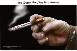 Cartoon: Quick fix that fixes nothing