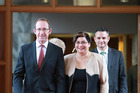 Andrew Little, Metiria Turei and James Shaw before today's press conference. Photo / Facebook