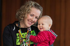 Jenny Chapman, with 7-month-old Hope, is holding a special yoga class on Sunday to fundraise for the Child Cancer Foundation. Photo / Ben Fraser