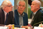 Councillors Rob Kent, Peter Bentley and Mike McVicker were criticised today for their boycotting of last week's council meeting.  Photo/Ben Fraser