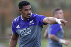 Jerome Kaino at the All Blacks training session at Trusts Stadium. Photo / Getty