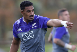 Jerome Kaino of the All Blacks during a New Zealand All Blacks training session. Photo / Getty Images