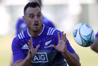 Israel Dagg of the All Blacks takes a pass during a New Zealand All Blacks training session at Dillworth College. Photo / Brett Phibbs