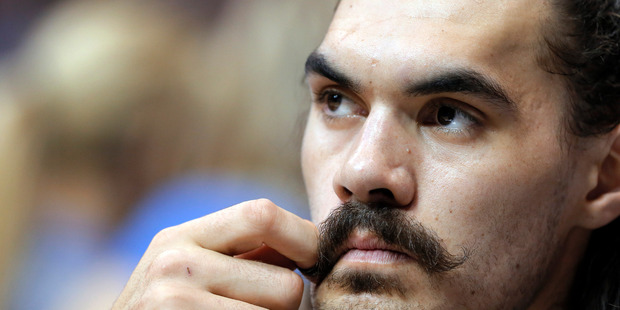 Oklahoma City Thunder centre Steven Adams is one half of the 'Stache Brothers' on the team. Photo / File