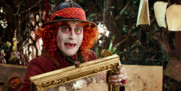 Johnny Depp stars as the Mad Hatter in Alice Through the Looking Glass. Photo / AP