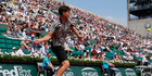 The punter had to get all nine legs of his multi-bet correct, which started with Austria's Dominic Thiem beating German Alexander Zverev in four sets at the French Open ($3.70). Photo / AP