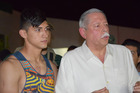 Alan Pulido, left, stands next to Tamaulipas State Governor Egidio Torre Cantu after Pulido was rescued from kidnappers. Photo / AP