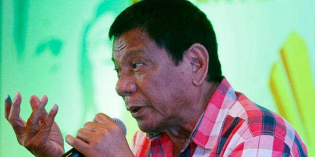 Rodrigo Duterte. Photo / AP