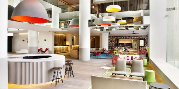 QT Hotel on the Gold Coast in Australia.