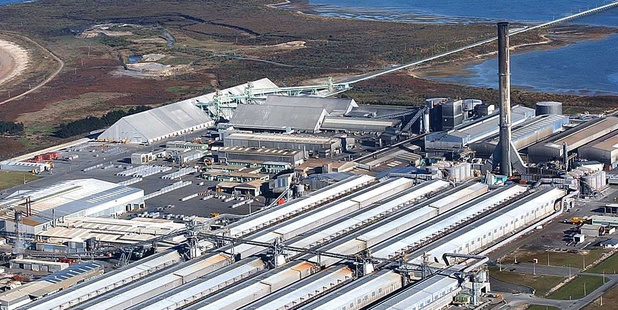 The Tiwai Point aluminium smelter made an underlying profit after tax of $54 million in the year to December 31. Photo / Supplied