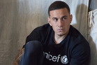 Sonny Bill Williams visit to Syrian refugee camp in Lebanon. Photo / Unicef