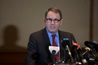 John Banks was scathing of the Crown at a press conference following the Court of Appeal decision to cancel his retrial.