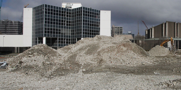 The site of the former earthquake-damaged Christchurch Convention Centre, opposite the Town Hall on Kilmore Street. Photo / Geoff Sloan