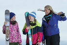 Mount Maunganui's Tierre Thompson and her 11-year-old twins, Ellie and Mia, are ready for snow season. PHOTO/JOHN BORREN