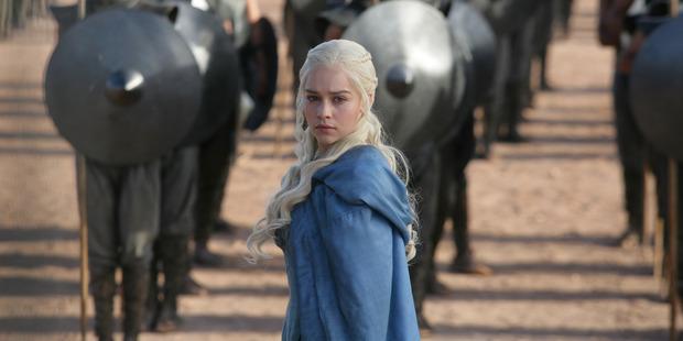 Actress Emilia Clark as Daenerys Targaryen in Game of Thrones.