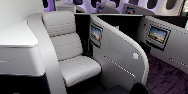 Air New Zealand Business Class seats. Photo / Brett Phibbs