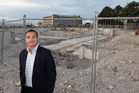 BY DESIGN: Nic Magdalinos on the site of Napier Hospital's former Arohina maternity wing where apartments will soon be built. PHOTO/DUNCAN BROWN