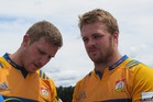 Nathan Harris (left) and Sam Cane have both been named to the new All Blacks squad. Photo/Chris Steel
