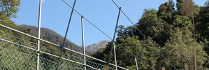 A bridge on the Barra Track in the Tararua Forest Park has critical work outstanding. PHOTO/SUPPLIED